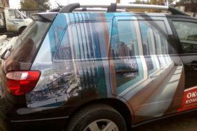 Брендирование авто для оконной компании