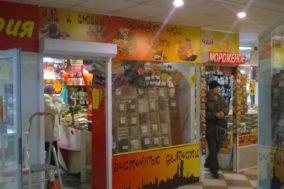 Оформление витрины для магазина восточных сладостей